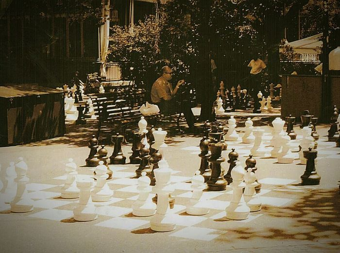 The Portraitist - 2015 EyeEm Awards Man and street chess. Chess Chessboard Street Photography Life Size  Alone Oldman Park Waiting Sepia