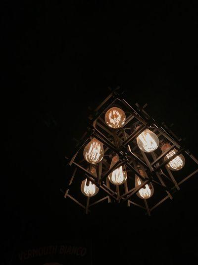 Lighting Equipment Illuminated Electricity  Black Background Low Angle View Technology Night Indoors  EyeEmNewHere EyeEmNewHere