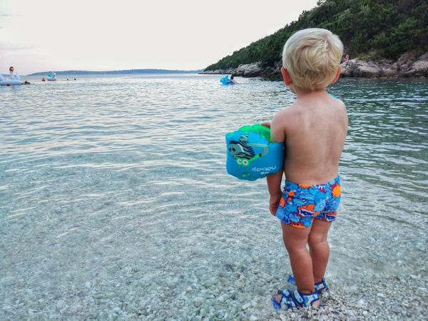 Still waiting for THE wave Plage Blond Enfant Bricedenice Blond Hair Water Human Back Child Sea Beach Males  Childhood