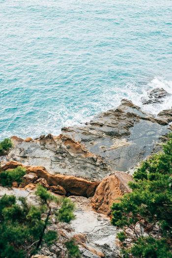 View from the cliffs to the sea in Livorno Livorno Livorno. Tuscany.sea Rock Summer Views Travel Blue Colorful Italy Livorno Italy Sea Vocation