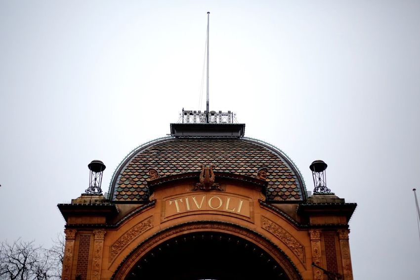 Tivoli, main entrance - Copenhagen Low Angle View Architecture Clear Sky Built Structure Building Exterior Copy Space Day Travel Destinations Outdoors No People