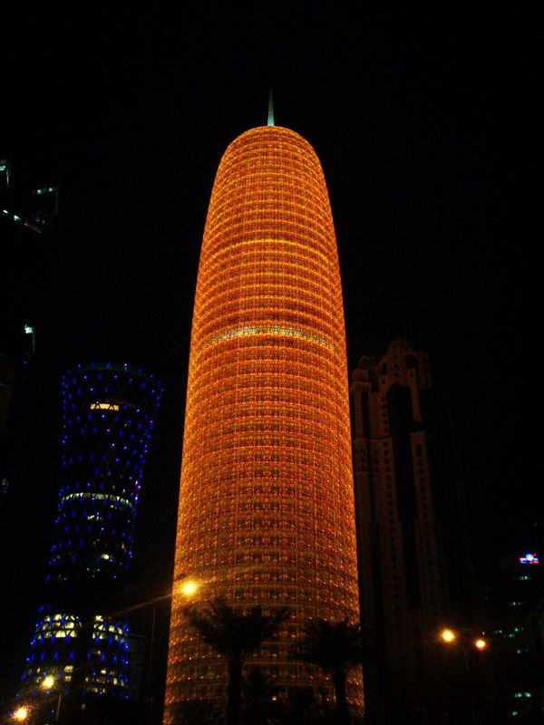 gold Tower Doha Qatar Taking Photos