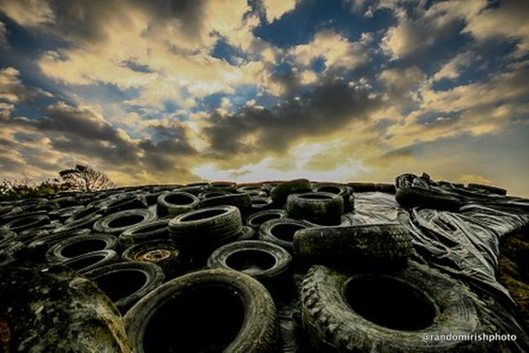 Tyre dump in Co Kerry. Ireland Discover Ireland Rural Ireland Clouds And Sky Clouds