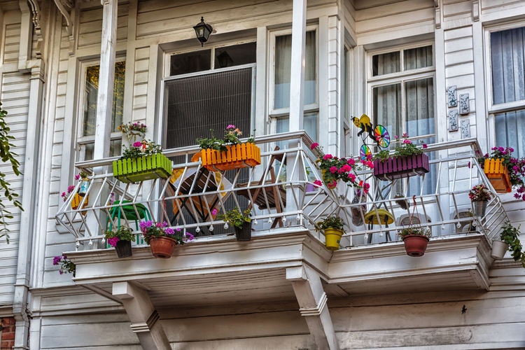 beautiful balcony Balcony View Wood Architecture Balcony Building Exterior Built Structure Day Flower Growth Outdoors Plant Potted Plant White Window Window Box EyeEmNewHere