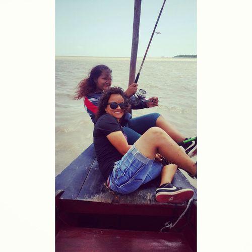 Fishing With Danielle Surinam River South America Having Fun