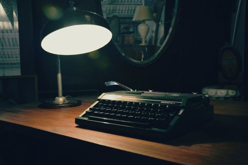 Typewrite Indoors  Technology Table Desk Lamp No People Retro Styled Backgrounds Indoors  Antiques Photography Antiques Typewriter Lamp Lamplight Lamp Light Lamp Lights In Decorations Lamp Lighting Antique Light EyeEmNewHere