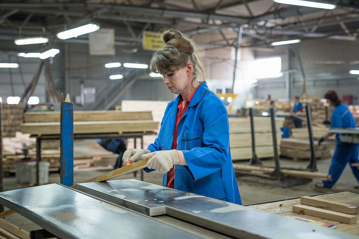 Manufacturing Factory Indoors  Standing Working People Real People Women Working Portrait Industry One Woman Only Indoors  One Person Workshop Wood - Material Only Women