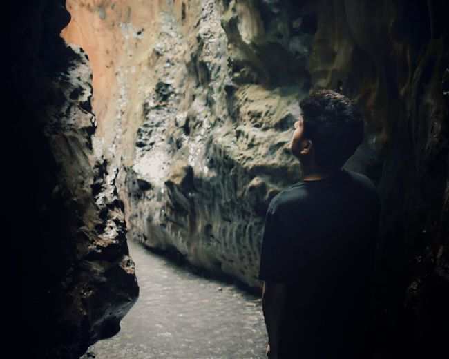 Photography Travel Destin Nature Photography Nature_collection Stayandwander Landscape Naturesbeauty Human Back Adventure Chiaroscuro  Mid Adult Cave Tunnel Natural Arch Light At The End Of The Tunnel Thoughtful Underpass Back Underground My Best Photo