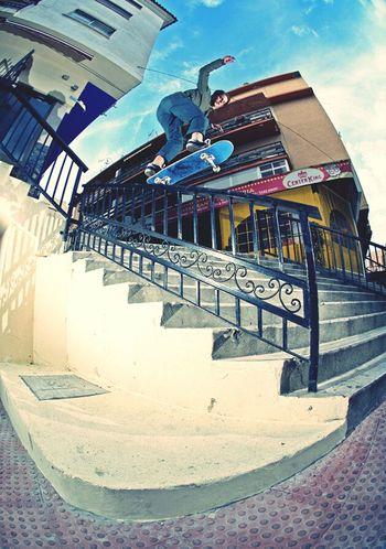 Hanging Out Taking Photos Rekiem Skateboards Anthony Boudard Backside Five-0