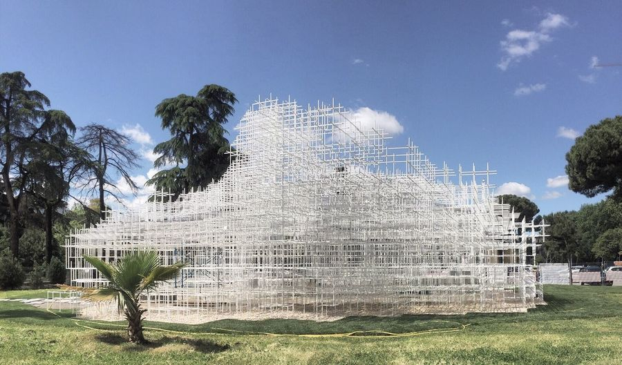Serpentine in Tirana SouFujimoto Albania Tirana Architecture Architecturetrip Pavilion Cloud Blue Sky Sun The Architect - 2016 EyeEm Awards Feel The Journey Original Experiences