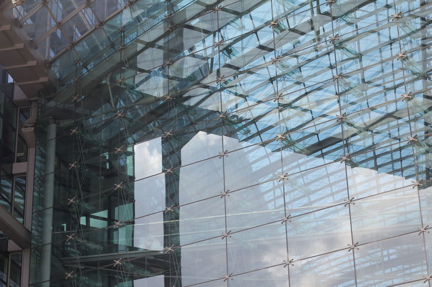 Architecture Building Building Exterior Building Story Built Structure Capital Cities  City Day Full Frame Geometric Shape Glass Glass - Material Low Angle View Modern No People Office Building Reflection Sky Skyscraper Tall - High