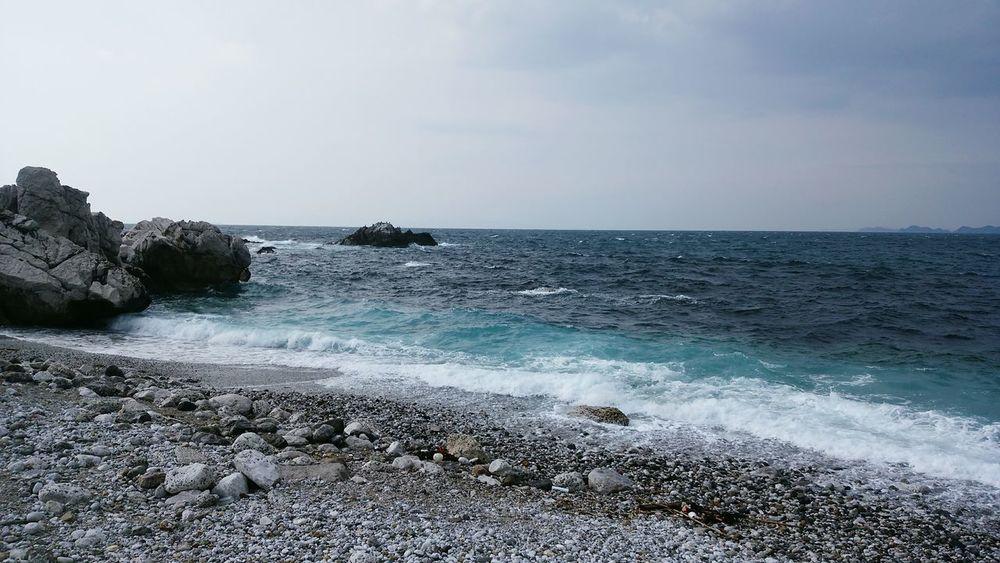 Hello World Nature Seaside Sky And Sea Shore Line Cobalt Blue By Motorola Wakayama,japan Sea Blue Ocean Hi! Ultimate Japan