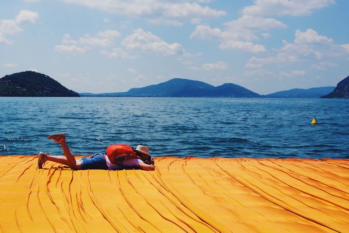 Christo The Floating Piers Lake Iseo (italy) Italy Lombardia Summer Art Lake Yellow Photographer Tourist 43 Golden Moments Paint The Town Yellow