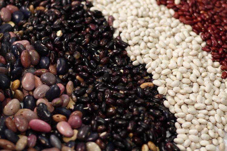 Full frame shot of various beans