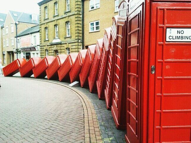 Banksy in Kingston Upon Thames Architecture Red In A Row Repetition Arrangement Order Architectural Feature Art Banksy Telephone Box