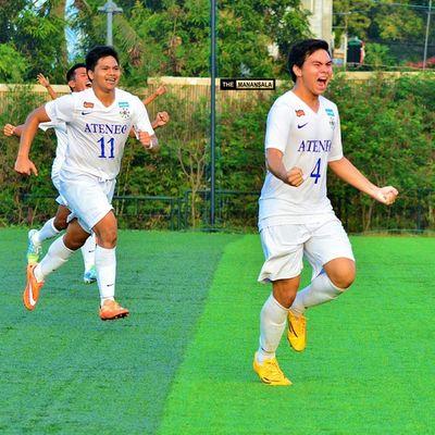 Goal celebration @kendallcolet 🎆⚽ . . . UAAP Uaap77 Uaapseason77 ADMUvsUST ateneo AdMU UST uste sbspotlight soccerbible football themanansala