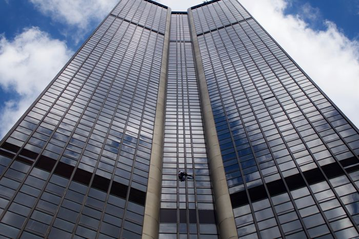 Tour Montparnasse Alain Robert Architecture Building Exterior Climbing Dangerous Fresh Low Angle View Matter Of Life Or Death Outdoors Right Time Right Place Risky Skyscraper Skyscrappers Climber Spider-man Spirituality