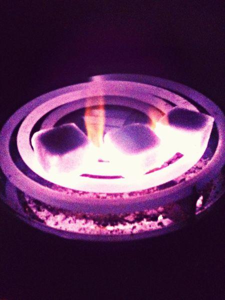 Coco Naras Hookah Burning Coals Burning