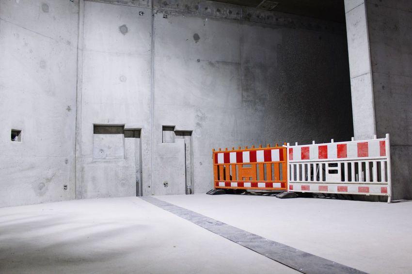 Blockade Barrier Tube Tunnel Concrete Floor Concrete Wall Concrete Construction Site Construction No People Indoors  Architecture