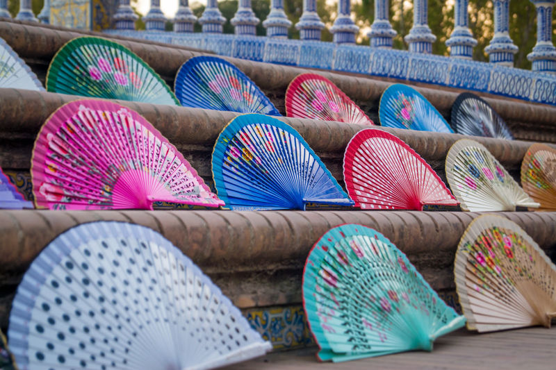 Colorful Folding Fans For Sale In Market