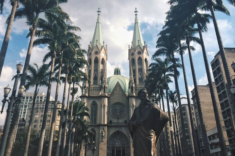igreja da sé Se Igrejadase Centro Religion Church Place Of Worship Cathedral Architecture Building Exterior Built Structure Low Angle View Travel Destinations Saopaulocity Sao Paulo - Brazil Saopaulo Brazil