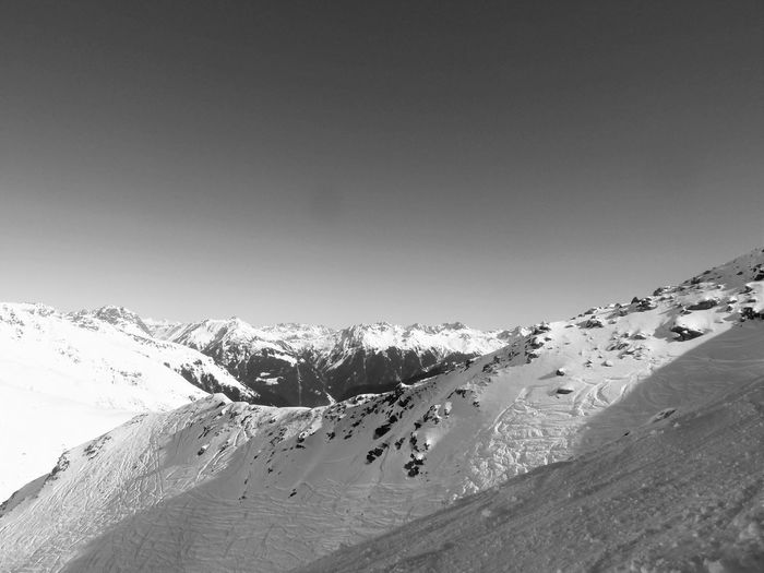 Beauty In Nature Black And White Blackandwhite Clear Sky Covering Deep Snow Landscape Majestic Monochrome Photography Mountain Mountain Range Nature Scenics Season  Snow Snowcapped Mountain Tranquil Scene Tranquility Travel Destinations Weather Winter