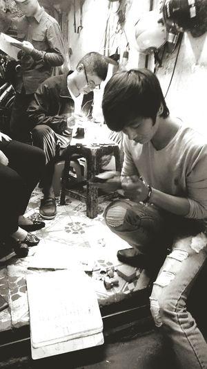 Wooden stamp makers in Hanoi, Vietnam. Hanoi Vietnam  Handicrafts Wooden Stamps Hands At Work Made In Hanoi XperiaZ3