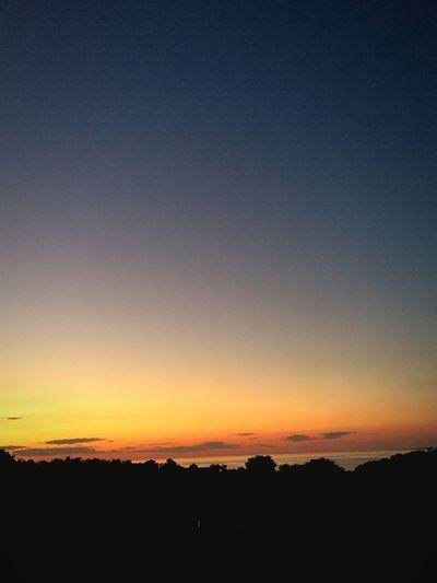 Sun Sunset Romantic Sky Sky Trees