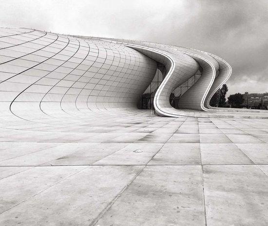Bak Baku♡♥ Baku Azerbaijan Building Exterior HeyderAlievCentre My Live, My Wold ????♥♥♥ Cloud - Sky No People Nature Day Sky