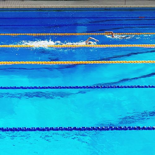 Swimming Pool Water Swimming Lane Marker Competition Competitive Sport Swimming Aquatic Sport Sports Event  Outdoors Day Horizontal No People Pictureoftheday Picofday Taking Photos EyeEm Best Shots Explore The World Swimming