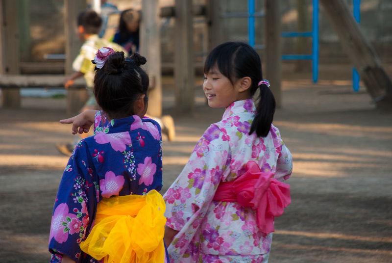 Asian Culture ゆかた YUKATA Kindergarten Summer Festival