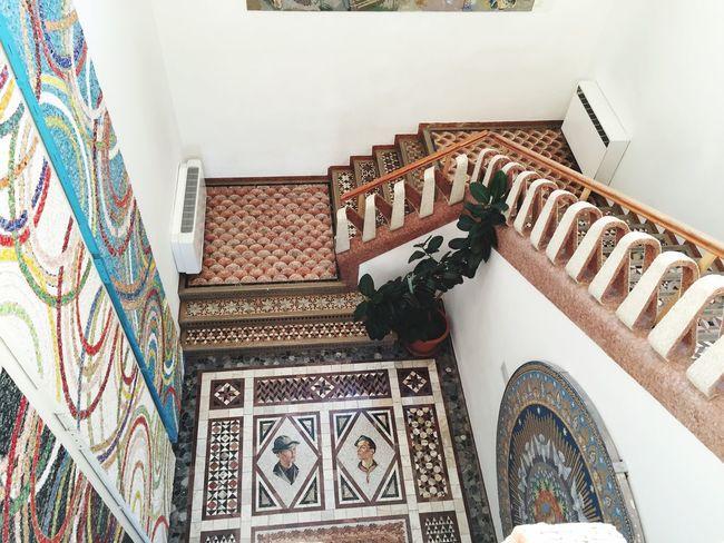 Spilimbergo Indoors  Architecture Built Structure Stairs Staircase Mosaic Friuli Venezia Giulia Spilimbergo School Art