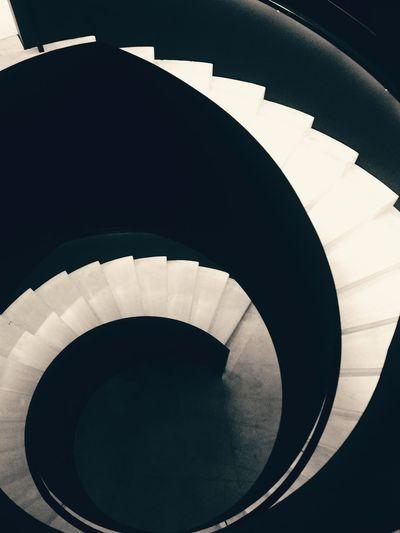Stairs Round Stairs Blackandwhite Museum Museum Of Modern Art Art Shape Modern City Close-up