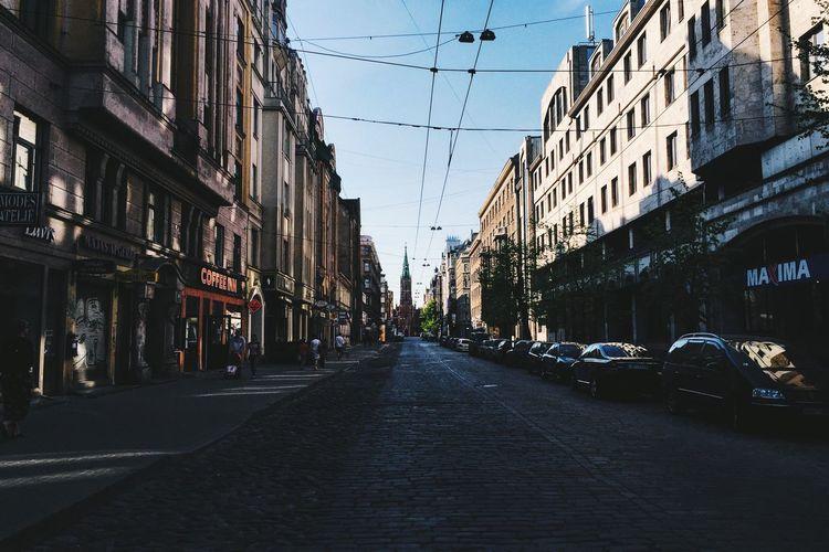 End of the street Europe Street #cobblestone Church