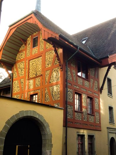 Golden part Architecture Oldtown Zofingen