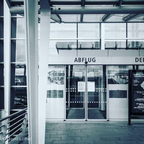 Airport Bsl Communication Text Architecture Western Script Built Structure Entrance No People Door Sign Building Exterior Day Information Transportation Technology Public Transportation Glass - Material