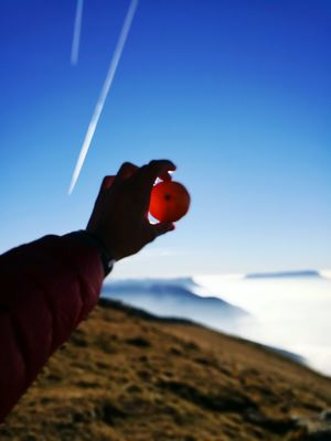 Human Hand One Person Clear Sky Outdoors Nature Scenics