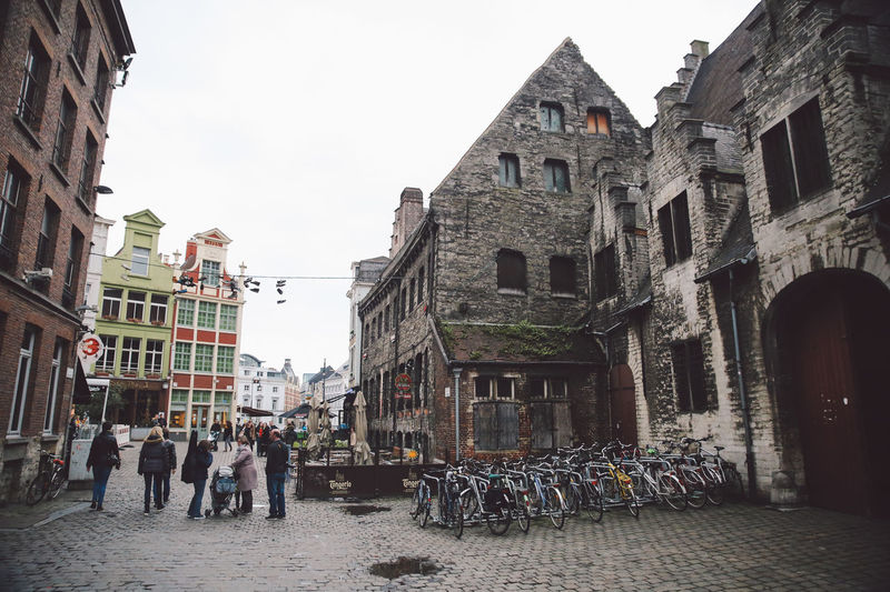 Architecture Belgium Building Exterior Built Structure City City Day Ghent Group Of People Large Group Of People Men Outdoors People Real People Sky Winter Women