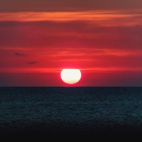 Neon Life Sunset Mediterranean  Sea Red Nature Beauty In Nature