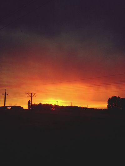 Sunset Sky Evening Sky Ontheroad