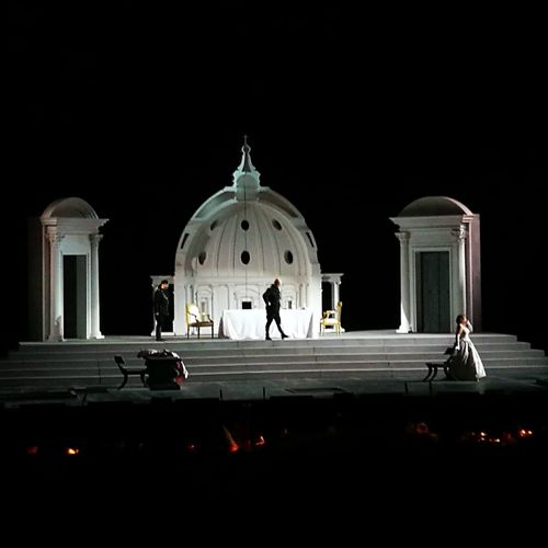 Religion Dome Spirituality Architecture Travel Destinations Adult People Adults Only Night Outdoors Only Men Sky Architecture Scenography Scenics Opera House Tosca Puccini Caracalla TermediCaracalla Roma