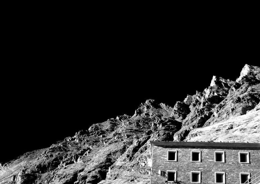 Architecture Black Background Building Exterior Built Structure Copy Space Franz-josefs-höhe Grossglockner-hochalpenstrasse Mountain Nature Night Rock Sky The Architect - 2018 EyeEm Awards