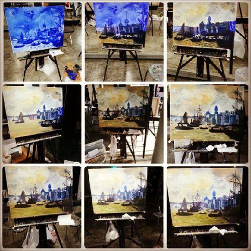 Done w the piece! Finally. Steps Artclass Oilpaint Art artgallery landscape cool sailor oldsckll awesome