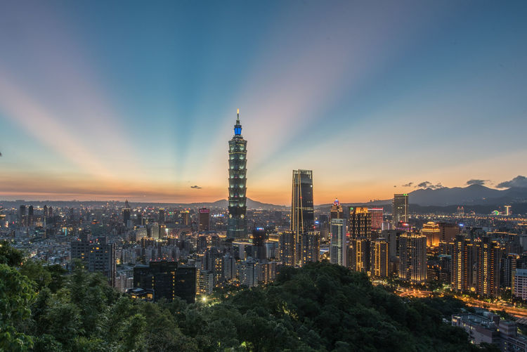 Xiangshan 101 Taipei Nightview City Sunset Glow First Eyeem Photo