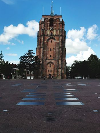 Tower Netherlands Leeuwarden Architecture Built Structure Building Exterior Sky Tower Building Cloud - Sky The Past Religion History Day City