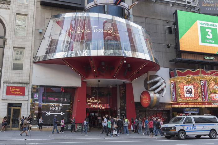 Madame Tussauds in Manhattan Madame Tussauds New York City Taking Photos Times Square Architecture Building Exterior Built Structure City Day Large Group Of People Men Museum Outdoors People Police Van Real People Target Shooting Text Tourism Travel Destinations Women
