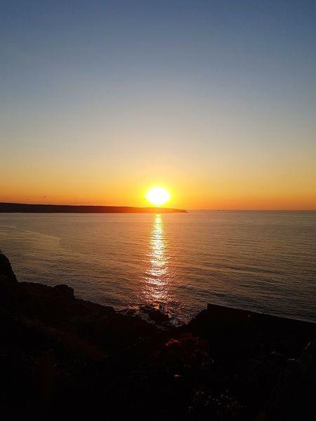 Water Sea Sunset Beach Horizon Sunlight Summer Sun Idyllic Silhouette