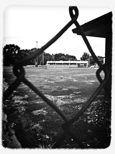 Black And White Empty Places Through The Fence Frame It!