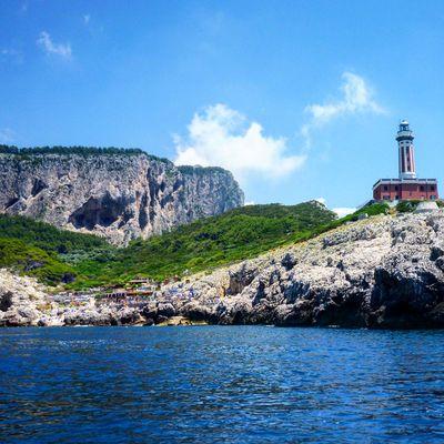 Capri lighthouse Amalfi Coast Italy Lighthouse Capri Island Cliffs Travel Photanaka Showcase: November