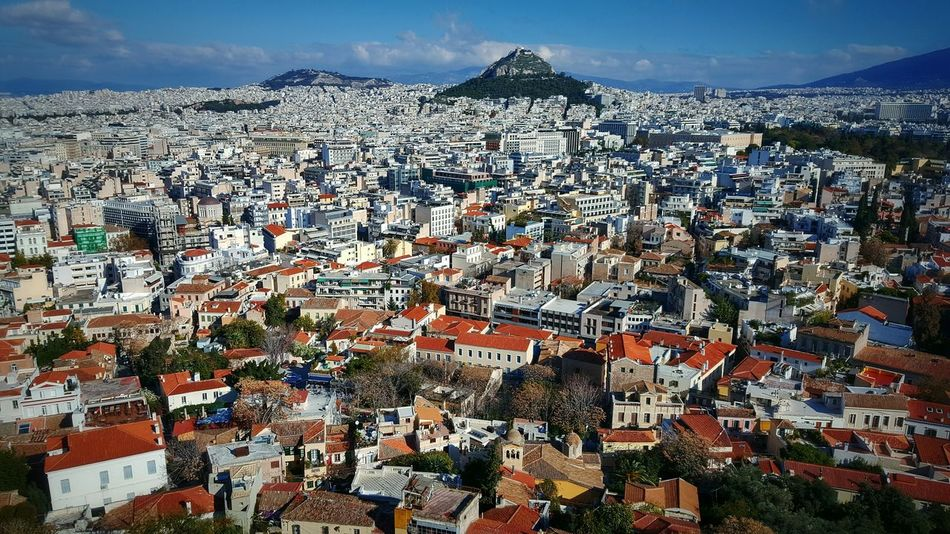 RePicture Growth Cityscape City View  View From Above My Best Photo 2015 - Lycabettus Athens Greece